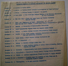 JOHN F KENNEDY HIS PERSONAL COPY OWNED USED BY JFK 1955  SCHEDULE NOT SIGNED COA