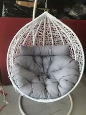 white egg chair with extra large cushion - plus free original cushion