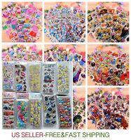20sheets 3D PVC Puffy Cartoon Stickers Kids Scrapbooking School Reward Xmas Gift