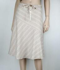 A-Line Machine Washable Striped 100% Cotton Skirts for Women