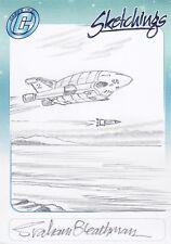 Thunderbirds TV Series Rare Graham Bleathman Sketch Card b