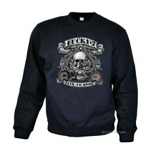 Chopper Biker Sweatshirt Motorradmotiv classic Bobber Garage Rocker *4240 navy