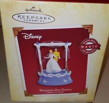 NIB Hallmark Keepsake Disney Wedding Day Dance Cinderella Prince Music Box