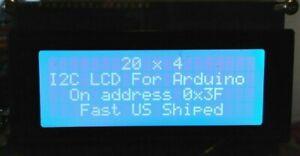For Arduino Uno Nano Mega Raspberry PI Blue 20x4 LCD 4002 I2C backpack Display X