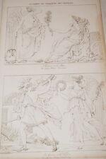 GRAVURE SUR CUIVRE NAPOLEON BAS RELIEF GUERRE PAIX VICTOIRE 1822 TARDIEU PETITOT