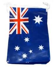 Pancartas y guirnaldas de fiesta azules de plástico, bandera