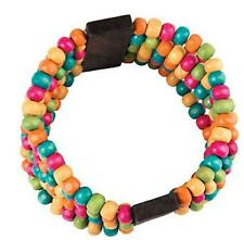 1 Bright Beaded Bracelet Kit Wooden beads Very Colorful Teen or Adult craft