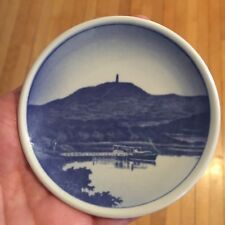 Royal copenhagen, Himmelbjerget, blue and white plate, rare