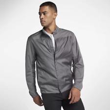 Nike Mens Shield Grey Water Resistant Full Zip Golf Jacket Size XXL