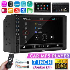 bluetooth 7'' 2 Din Car Stereo Video MP5 Player HD Touch Screen Radio AUX FM USB
