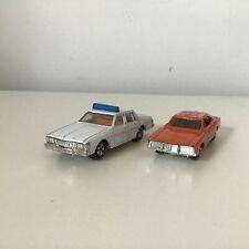 2x Vtg ERTL Diecast Cars General Lee Dukes Of Hazzard Pontiac Bonneville #454