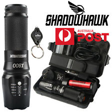 Super Bright Shadow hawk  X800 Tactical Military Flashlight Torch Work Light Set