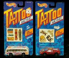 2X lot HotWheels Tattoo Machines Bus Boys/Road Pirate