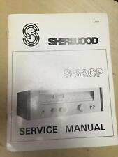 Sherwood Service Manual for the S-32CP Tuner