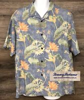 Tommy Bahama Men's 100% Heritage Tortola Silk Floral Short Sleeve Camp Shirt L