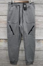 Switch Mens Size Medium Zipper Embellished H. Grey Moto Sweat Jogger Pants New