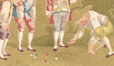 BOY PLAYING MARBLES, BROOKLYN TRADE CARD NELSON CO FINE SHOE, 118 COURT St  C363