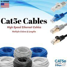 Cat5e Ethernet Patch Cable Lan Network Internet Modem Router Computer Cord Lot