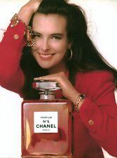 Publicité ancienne Parfum No 5 Chanel issue de magazine
