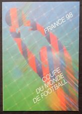 Ad44* Document Philatélique FOOTBALL France 98 (Cachet 1er Jour FDC) St-Etienne.