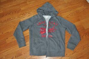 NWOT~YOUTH~DIESEL~GRAY~RED LOGO~Hoodie Pockets Logo Sweater/Jacket sizes 16~NICE
