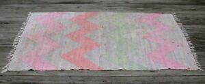Vintage Handmade Rag Rug Pastel