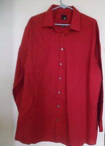 Men's J .Ferrar Slim Fit Dress Shirt, XXL 18-18 1/2  34-35,  Red