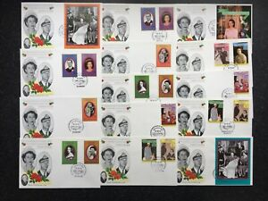 1987 HM QUEEN GRENADINES OF St VINCENT COMMEMERATIVE WEDDING COVERS x14 - (AC6)