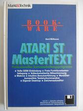 Atari ST MasterText Book Ware ISBN 3890905781 Markt Technik Makros Desktop GEM-