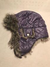 Youth Girl/Boy REI Trapper Hat Size 7Y-14Y| Purple Faux Fur Winter Cap
