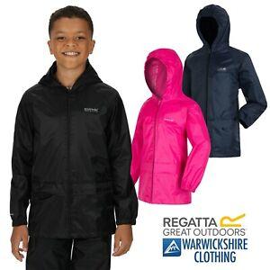 Regatta Kids Stormbreak Waterproof Jacket Hooded Full Zip Coat Boys Girls Navy