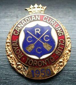 Rare Curling Pin - 1950 Royal Canadian Curling Club Toronto