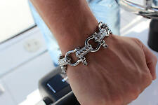 "9.5"" STAINLESS STEEL SAIL BOAT SHACKEL BRACELET MARINE YACHT FISHING SPORT DECK"