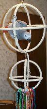 Double 3 Ring Orbit Preening Swing Perch Cotton Rope