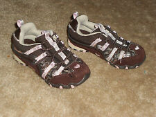Girls Skechers Brown/Pink Bungee Athletic Shoes  Size 8  Used
