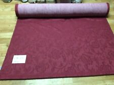 "Fr Upholstery Seating""Damask"" Fabric 30 Metres Roll.Burgundy -Dk24"