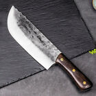 Handmade Forged Cleaver Butcher Knife Meat chopping slaughter Knife Carbon Steel