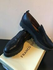 NEW Franco Sarto Black Brice Loafers Size 8 Faux Leather