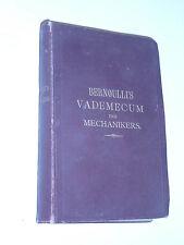 stuttgart 1897 BERNOULLI'S Vademecum des Mechanikers HEINRICH BERG mecanique