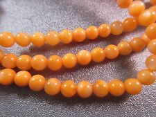 Mother Of Pearl Orange Round 4-5mm Beads 86pcs