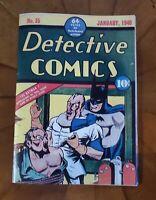 Detective Comics # 35 1939 Golden Age Replica Edition ☆☆☆☆