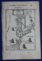 Original antique map JAPAN, 'TERRE DE JESSO' HOKKAIDO, NORTH HONSHU, Mallet 1683