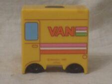 """vintage Bandai 1985 Japan Van plastic toy letter """" V """" alphabet transformer"""