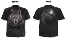 Spiral Wolf Dreams T-shirt Short Sleeve Adult Male Extra Large Black Tr2926