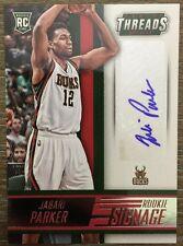 Jabari Parker AUTO 2014-15 Panini Threads Basketball Rookie Signage Autograph RC