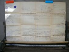 "Model Boat Drawing of CULLAMIX Diesel Engine Tug scale 1/2"" to 1 ft."