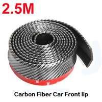 """Universal Carbon Fiber Front Bumper Lip Splitter Chin Spoiler Body Kit Trim 100"""""""