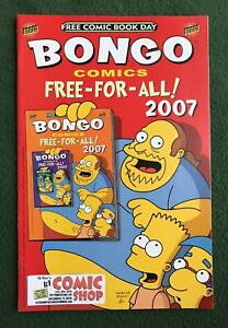 Bongo Comics Free-For-All 2007 FCBD Modern Age Free Comic Book Day The Simpsons