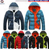 Men's Padded Bubble Coat Hooded Quilted Puffer Jacket Warm Winter Fashion UK