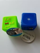 New listing Vinyl Dog Squeaky Toy Blue and Green Cubes Chew Toys Rubber Squeak New Plastic